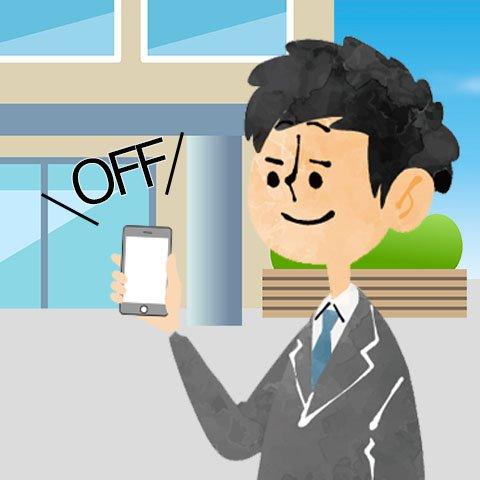 面接会場に入る前に身だしなみや携帯電話の電源が切れているか確認する