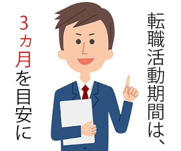 転職活動期間は、どれくらいを目安にしておけば良い?のアイキャッチ画像